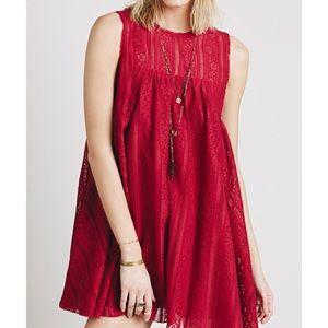 Free People Tu-Es-La Swing Dress ~Raspberry~ US S